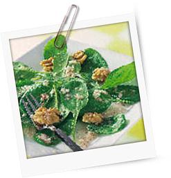 Spinatsalat mit Walnüssen