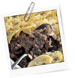 Kalbsnieren unter gratinierten Kartoffeln
