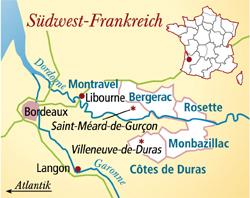 Côtes de Bergerac Frankreich