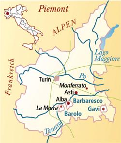 Barbera d'Asti Italien