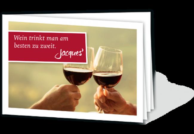 Wein trinkt man am besten zu zweit!