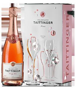 TAITTINGER Champagne Rosé 2 Gläser