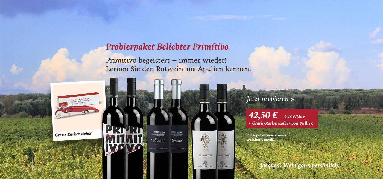 Probierpaket Beliebter Primitivo