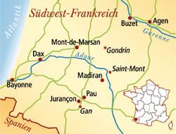 Côtes de Gascogne Frankreich